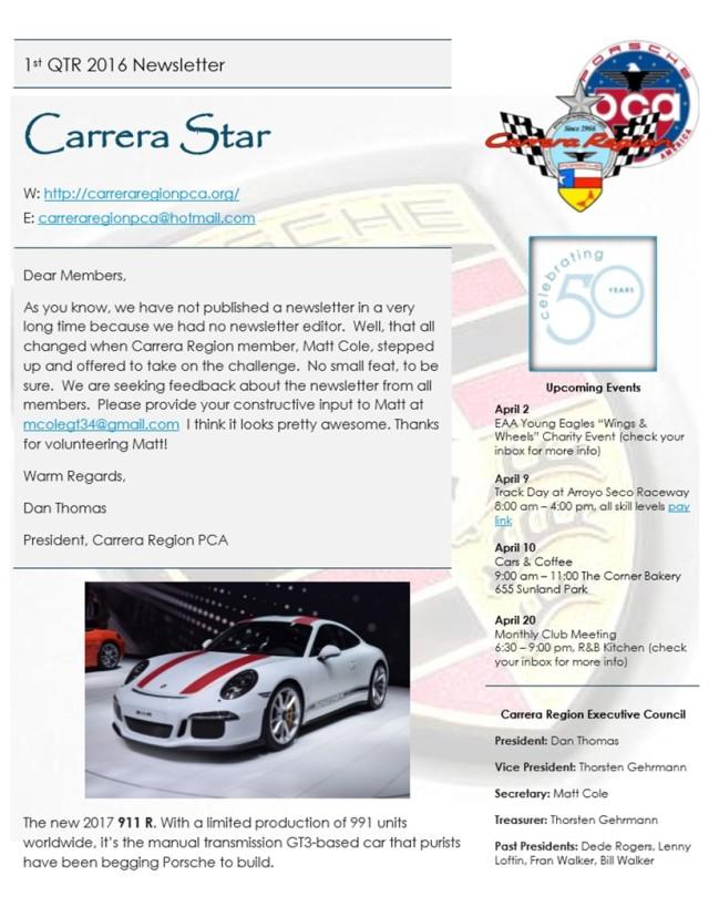 CarreraStar 1QTR2016