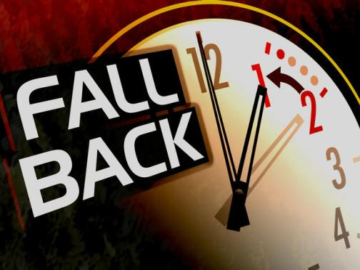 Daylight Savings Time Fall Back graphic