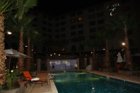 Heated outdoor pool at Hotel Encanto