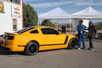 Mike and Laura Garcia with their beautiful 2013 Mustang Boss 302