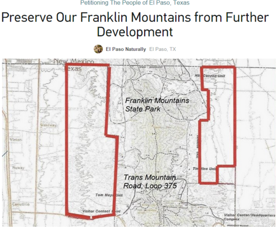 Save the Franklin Mtns.